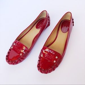 Kate Spade Ruby Red Patent Leather Flats
